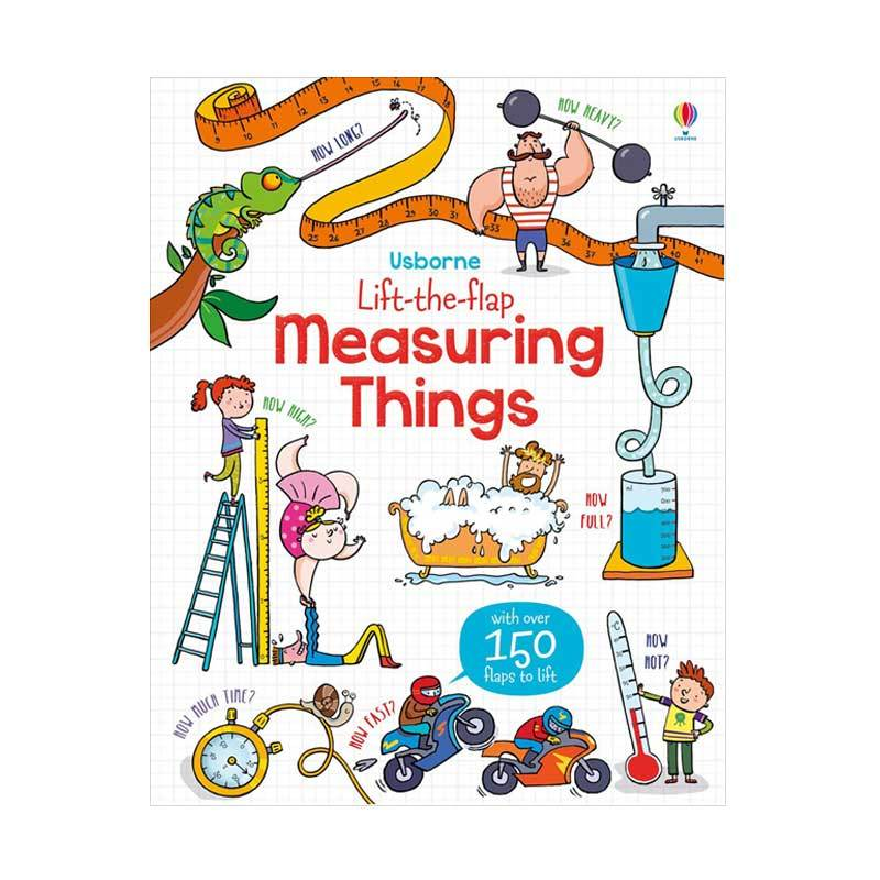 Genius Usborne Lift The Flap Measuring Things with Over 150 Flaps to Lift Buku Anak