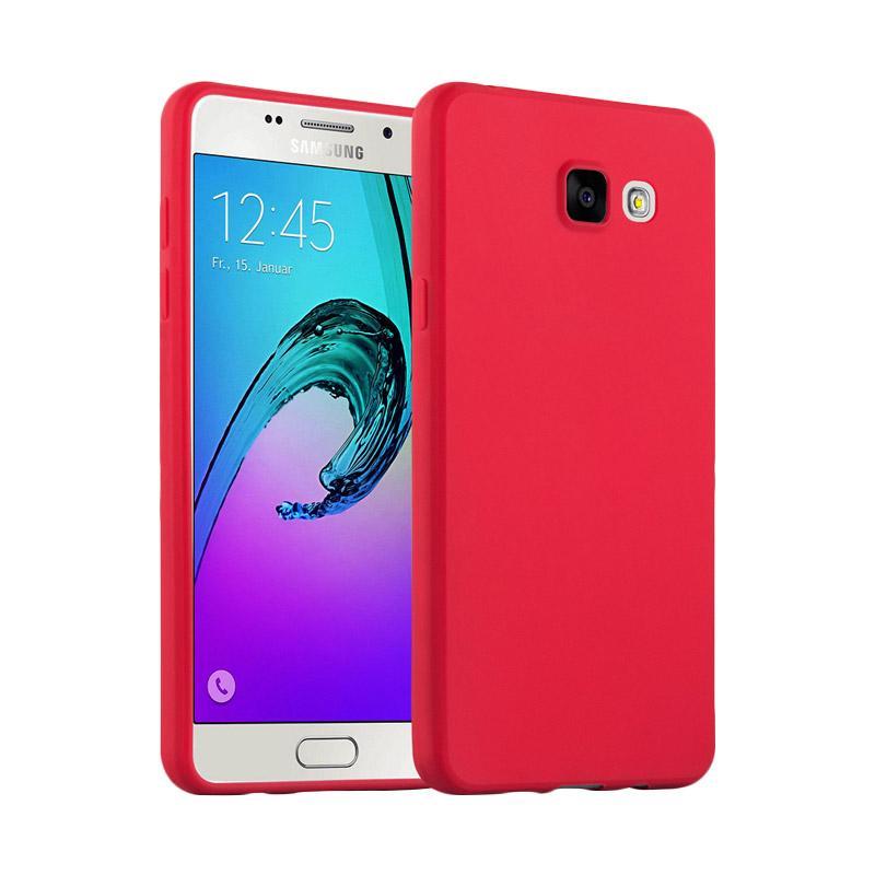 Lize Design Case Slim Anti Glare Silikon Casing for Samsung Galaxy J7 Prime - Merah