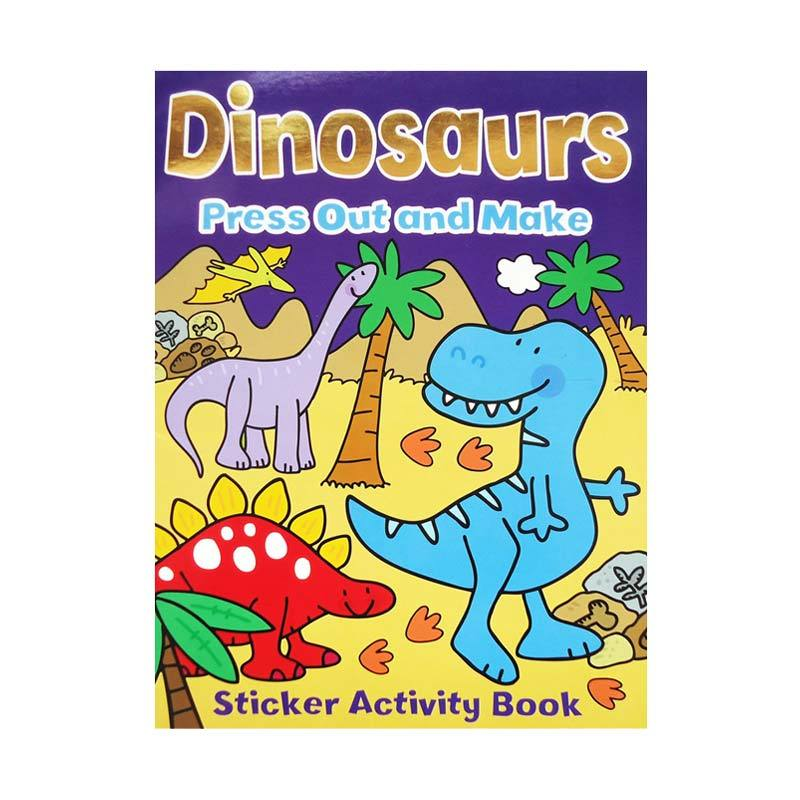 Genius Sticker Activity Book : Dinosaurs Press Out and Make Buku Anak