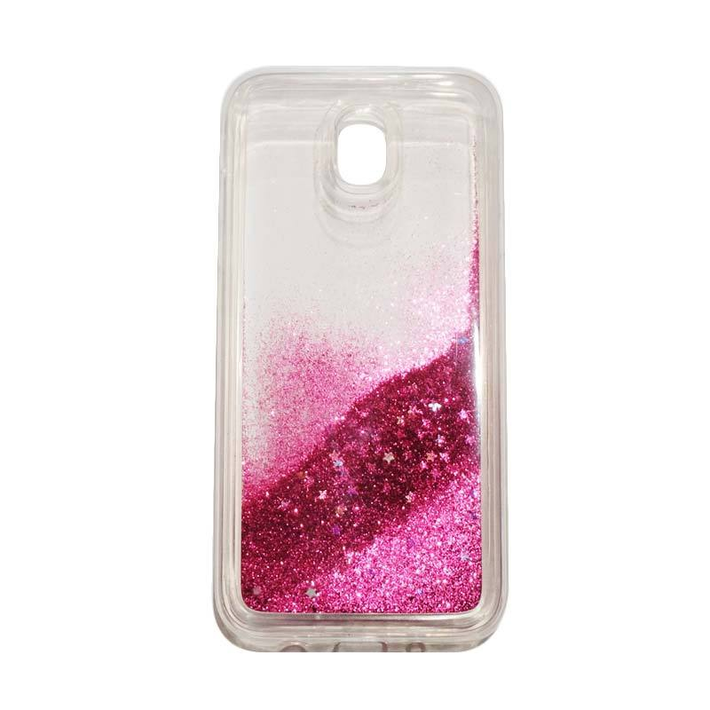 QCF Softcase Water Glitter Aquarium Silicone Casing for Samsung Galaxy J5 Pro 2017 / J530 Case Blink Blink - Pink Tua