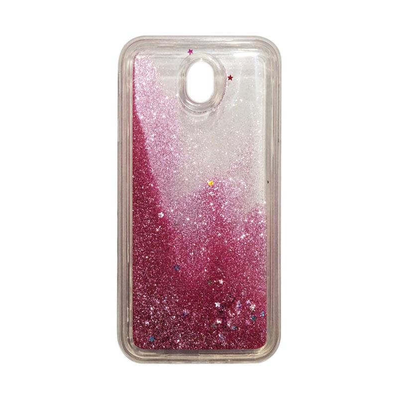 QCF Softcase Water Glitter Aquarium Silicone Casing for Samsung Galaxy J7 Pro 2017 / J730 Case Blink Blink - Pink Muda