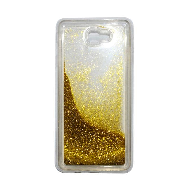 QCF Softcase Water Glitter Aquarium Silicone Casing for Samsung Galaxy J7 Prime Case Blink Blink - Gold