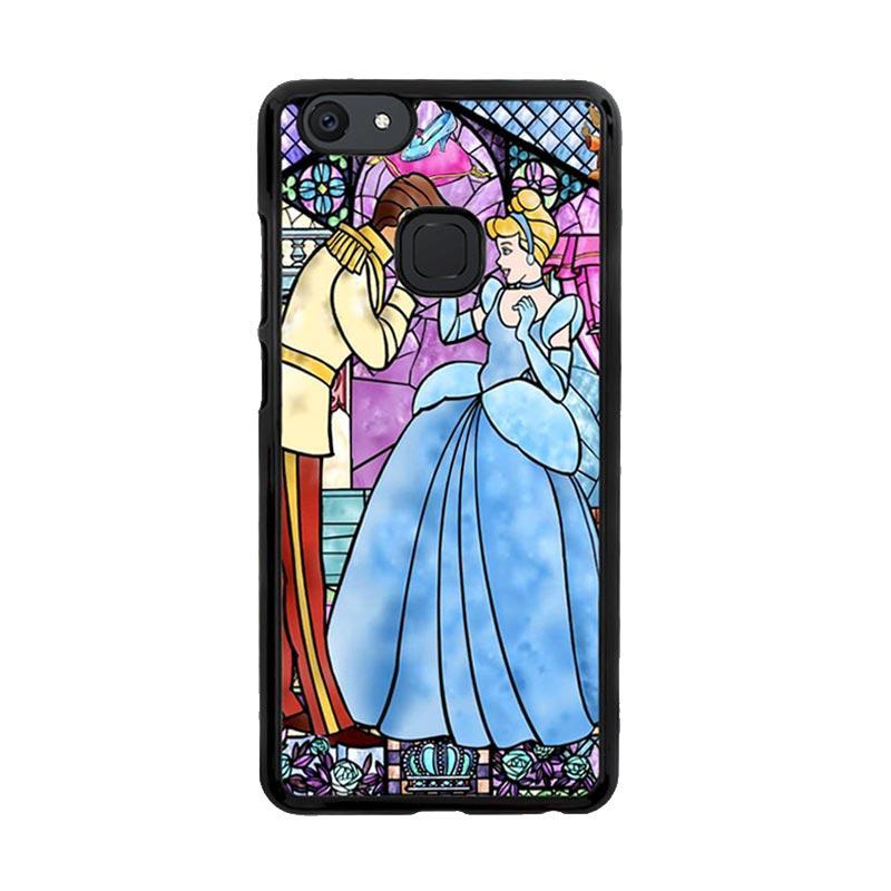 Flazzstore Disney Cinderella Stained Glass Z0723 Custom Casing for Vivo V7