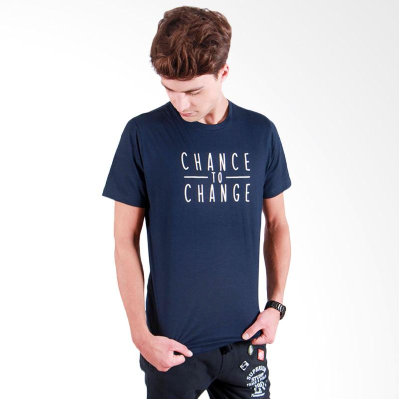 180 Degrees Chance to Change T-Shirt Pria - Navy