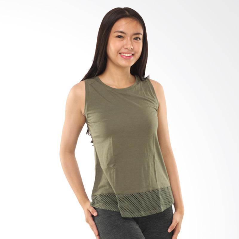 Active & Co FS Loose W Tanktop Olahraga Wanita - Green Army [ATK0022]