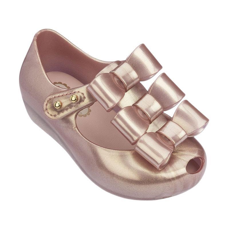 harga Mini Melissa Triple Bow Bb Sepatu Anak Perempuan - Metallic Pink Blibli.com