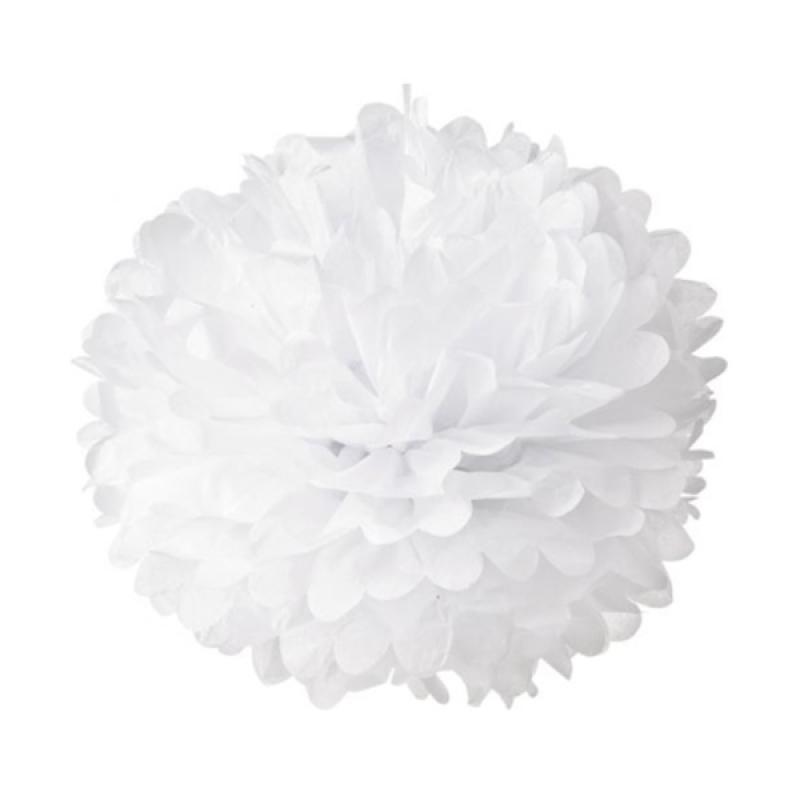 KUKUK PPK-LG02S Pom-Pom Kertas - Putih [6 Pcs/ Large]