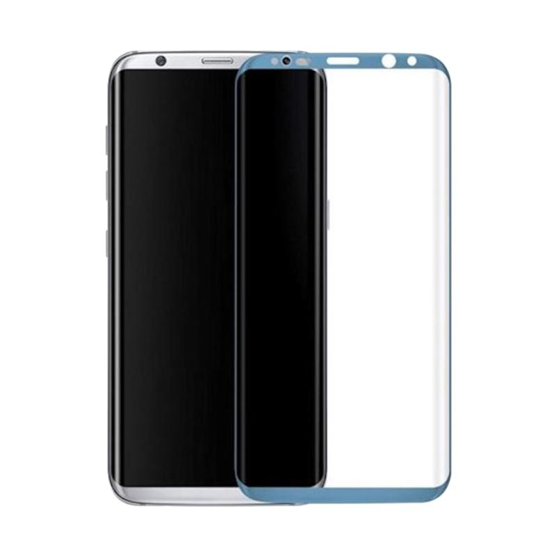 3T Tempered Glass Screen Protector for Samsung Galaxy S8 - Blue [Full Cover]