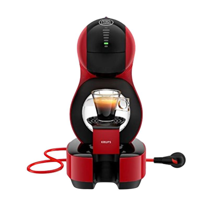 Krups Nescafe Dolce Gusto Lumio Mesin Kopi - Black Red + Free Wire Rack