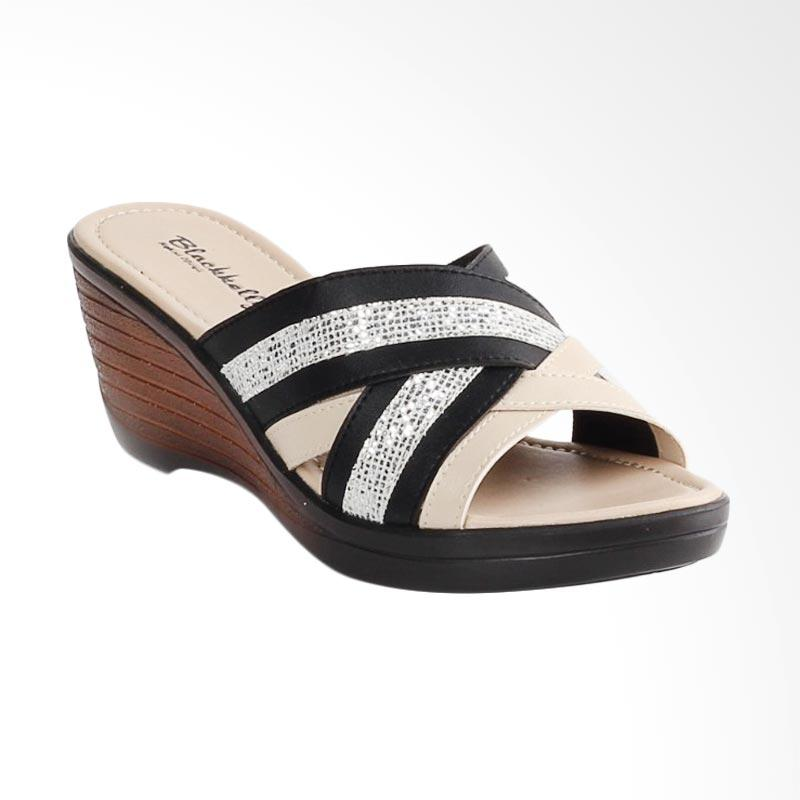 Kelebihan Kekurangan Blackkelly BLK-LCU 132 Sandal Wedges Wanita - Hitam Dan Harganya