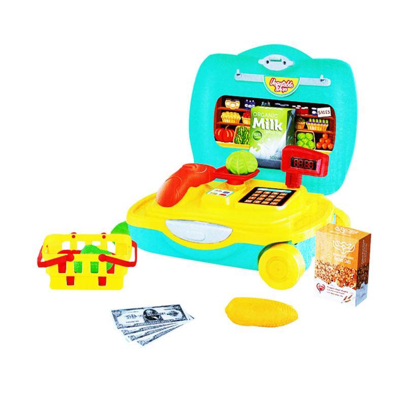 OEM Vegetable Shop Trolley Mainan Anak [21 pcs]