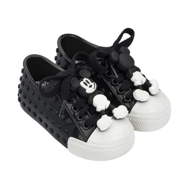 Mini Melissa Polibolha Disney Sepatu Bayi - Black