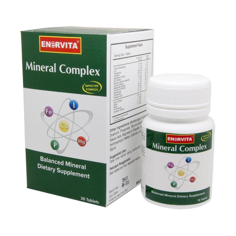 harga Enervita Mineral Complex Suplemen Kesehatan [30 Tablets] Blibli.com