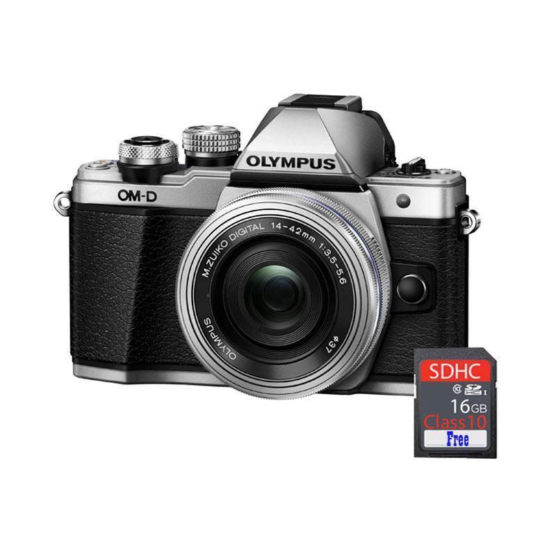 harga Olympus OMD EM10 MARK II KIT 14-42mm EZ Kamera Mirrorless - Silver + Free SDHC [16 GB] Blibli.com