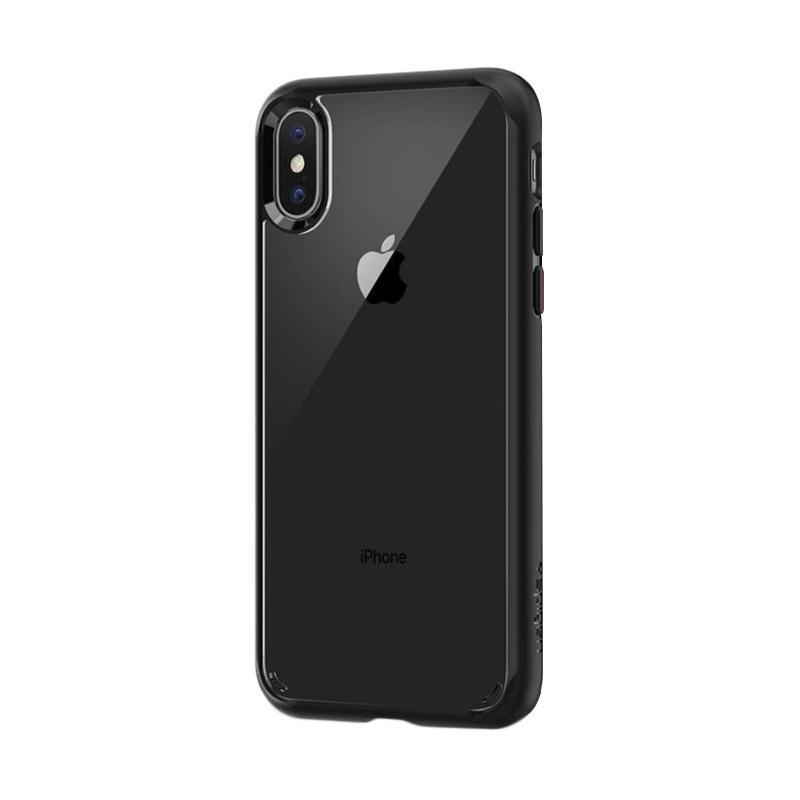 Spigen Ultra Hybrid Casing for iPhone X - Black Matte [Original]