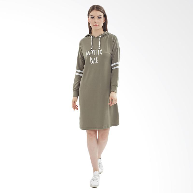 Boontie Netflix Bae Dress - Green