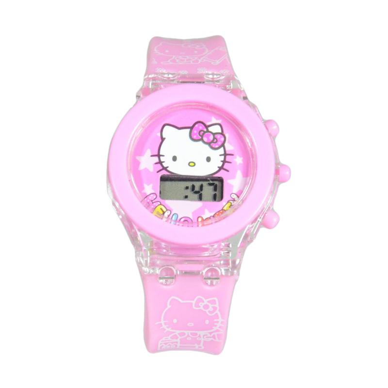 harga DnB COLLECTION Jam Tangan Skeleton Lampu Hello Kitty - Light Pink Blibli.com