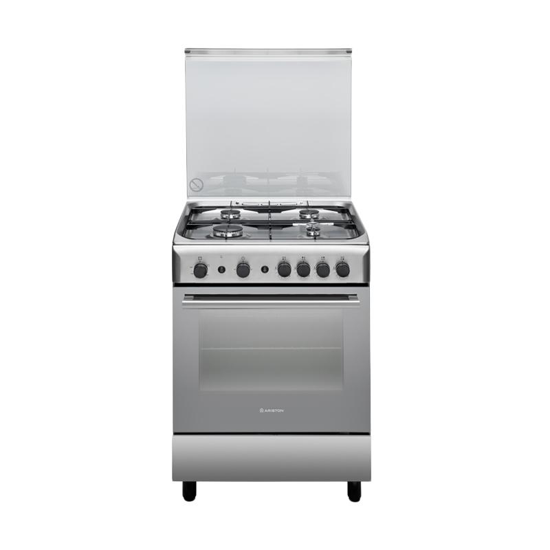 Ariston A6 GG1 F X Kompor Gas free Standing Cooker [Stainless steel]
