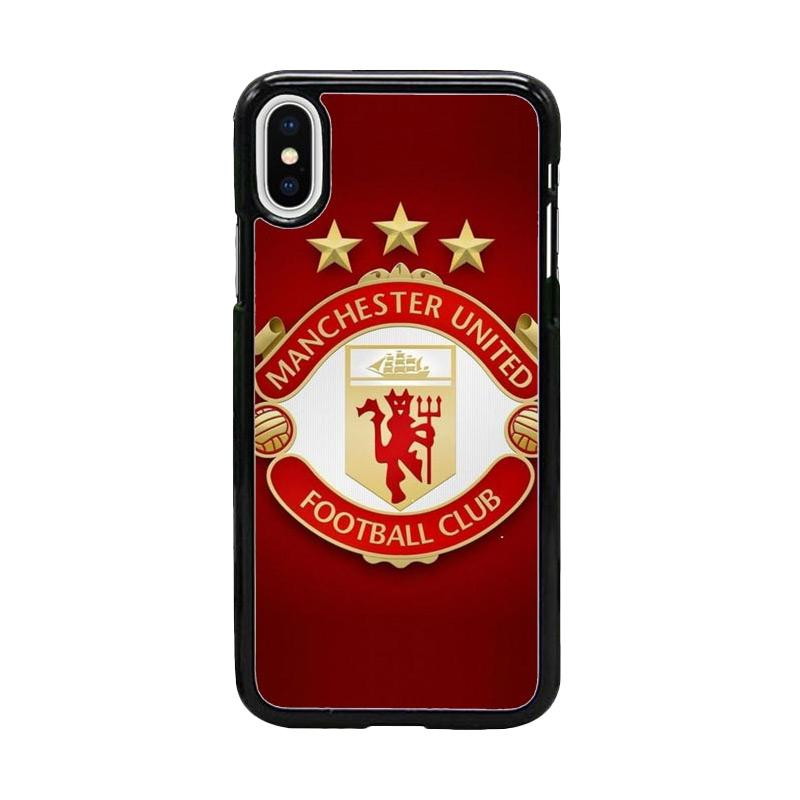 Acc Hp Manchester United Logo W4954 Custom Casing for iPhone X