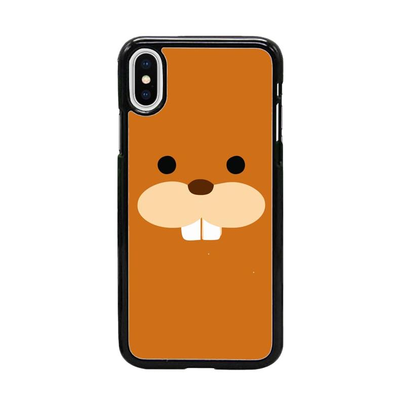 Acc Hp North American Animals Beaver W5035 Custom Casing for iPhone X