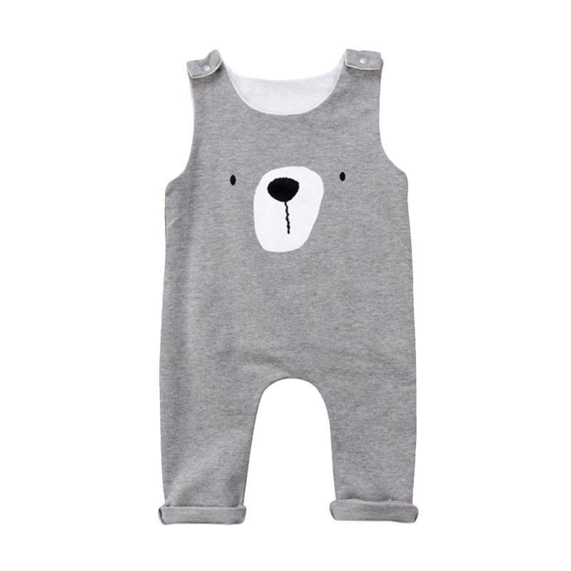 Abby Baby Bear Baju Jumpsuit - Grey