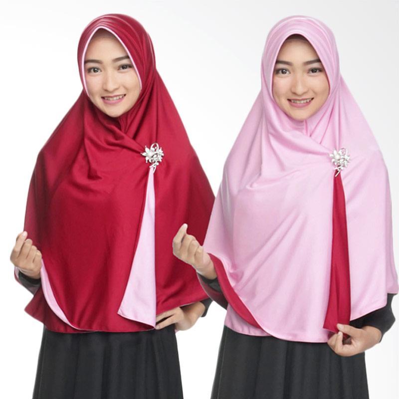 Zannah Hijab Syari Bolak Balik Jumbo Jilbab Instan