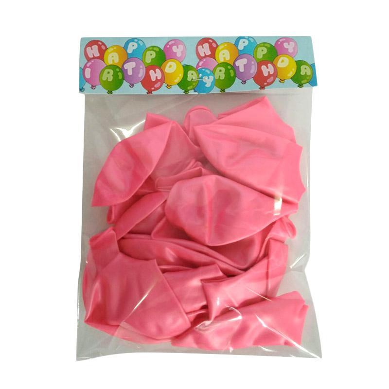 Toystoys 1010010023-5 Balon Polos - Pink [20 Pcs]