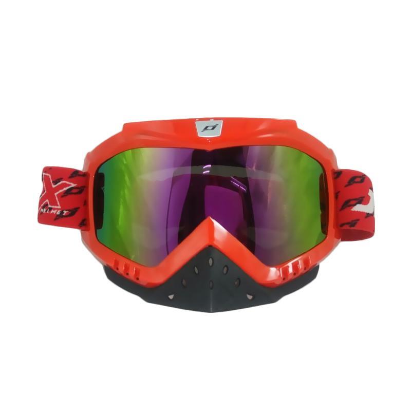JPX Cross Rainbow Kacamata Goggle - Red Gloss