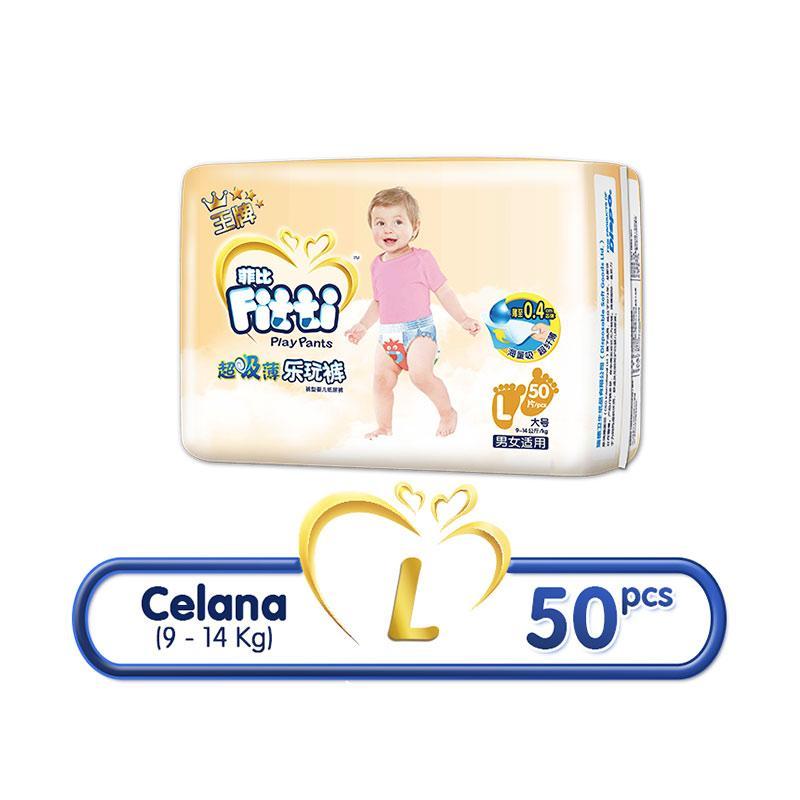harga Groceries - Fitti Gold Pants Popok Bayi [Size L/ 50 pcs] Blibli.com