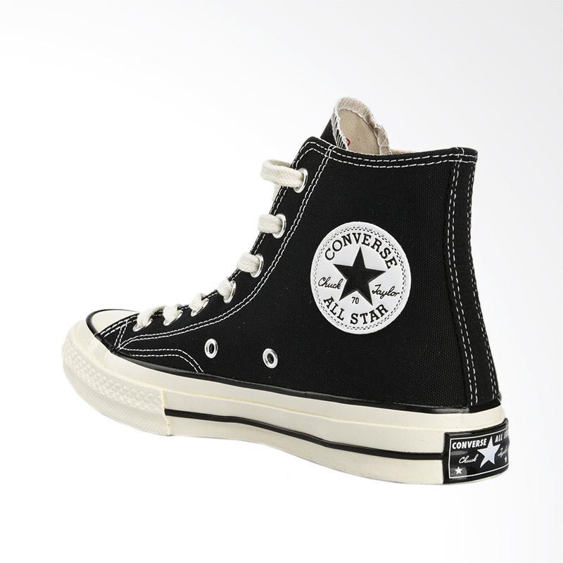 Jual Converse Chuck Taylor 70'S HI Sepatu Pria - Black White [162050C]  Online Januari 2021   Blibli