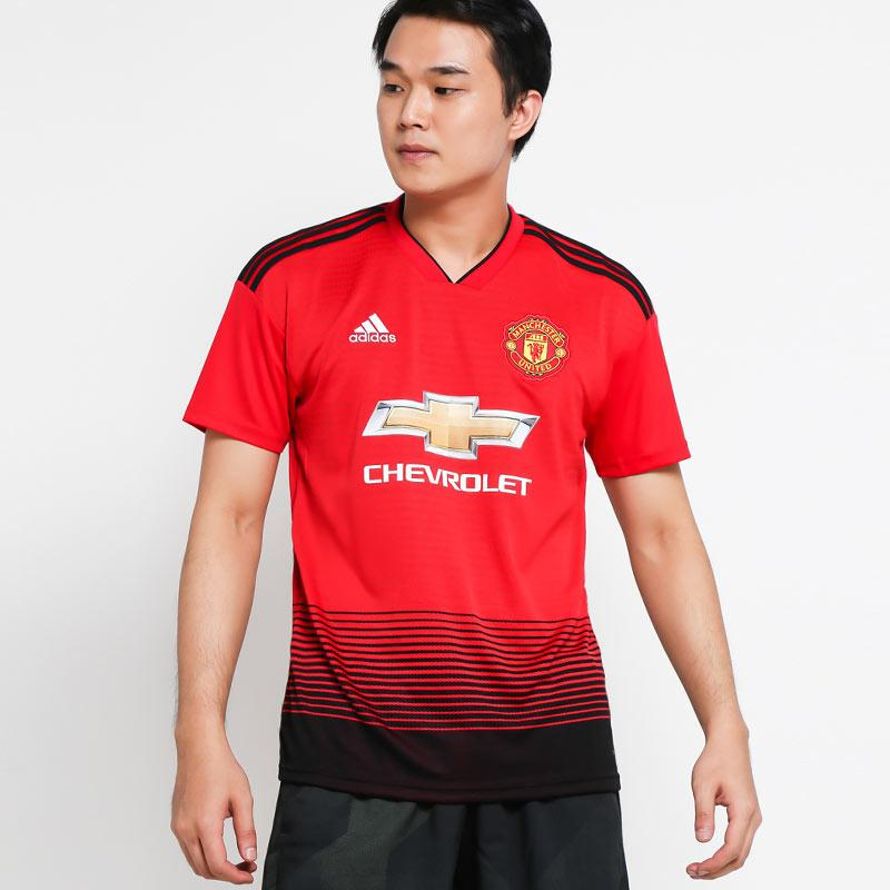 hot sale online f1302 7b6b9 adidas Men Football Manchester United Home Jersey Baju Sepakbola Pria  [CG0040]