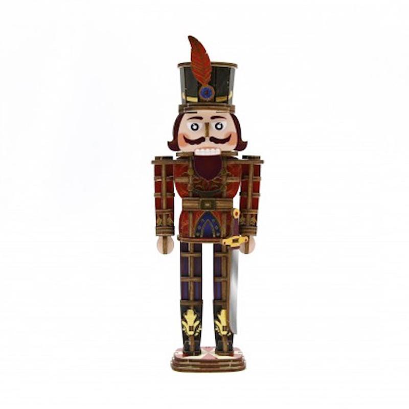 Kigumi Jigzle Wooden Art Puzzle Nutcraker with Color 3D Puzzle