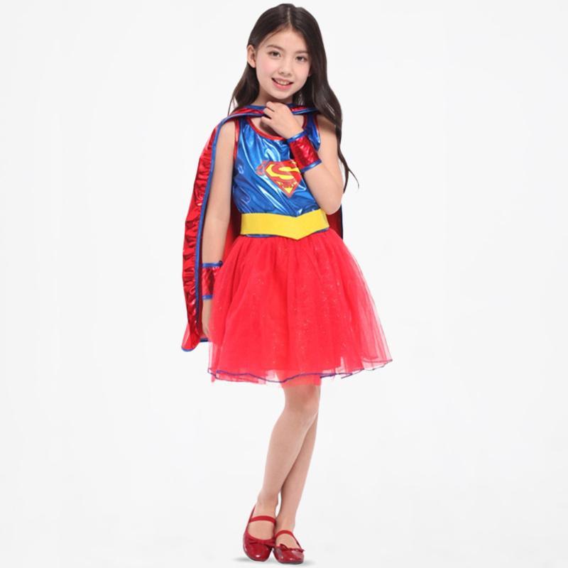 House Of Costumes Kostum Dazzling Supergirl Supergirl Superhero Kostum Anak