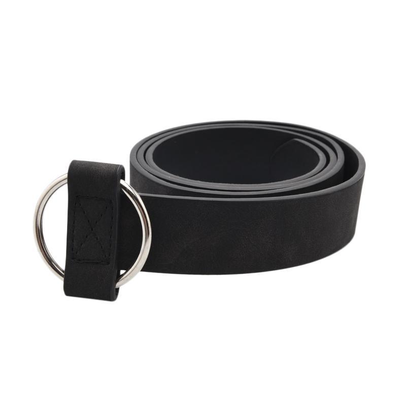 SCOPO Premium Faux Leather Ikat Pinggang Wanita Hitam