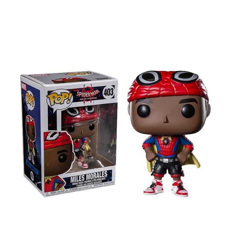 Funko POP Marvel Spider Man Into the Spider Verse Miles Morales Cape Vinyl Figure 403