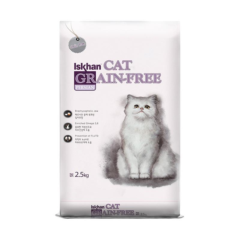 ISKHAN Cat Grain Free Persian Makanan Kucing 2 5 kg