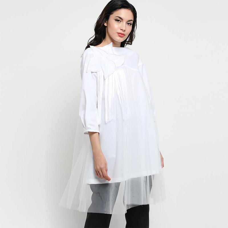 Andhita By Andhita Siswandi ADS 2406 Liliane Shirt Atasan Wanita - Off-White