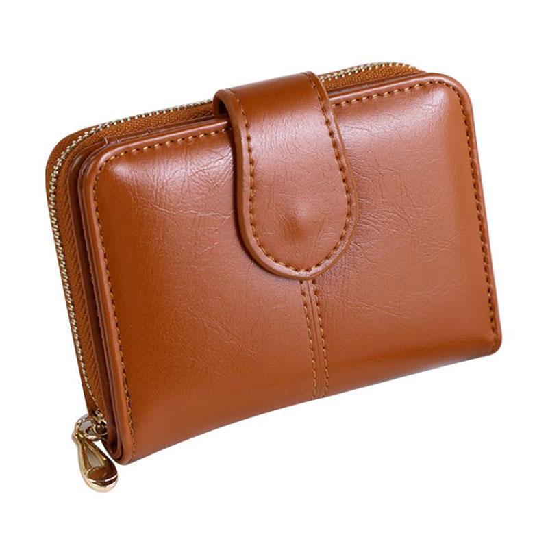 Orange GLOA Vintage Floral Print Kiss Clasp Women Mini Pouch Money Bag Wallet Coin Purse Travel Makeup Bag
