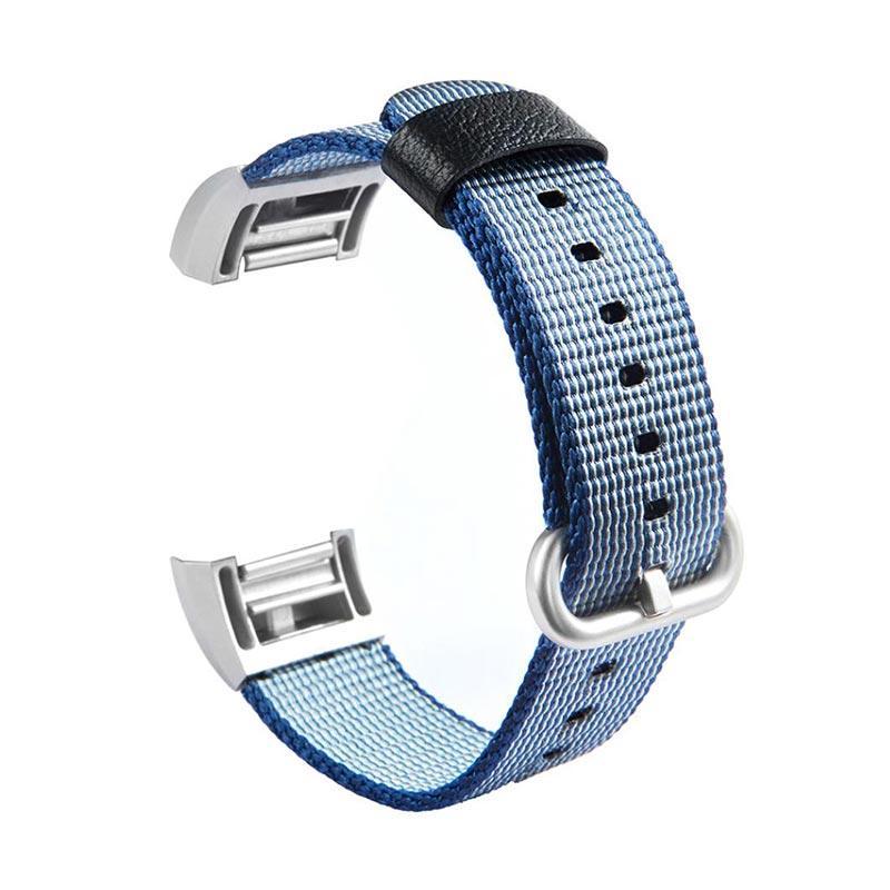 2019 professionnel nouvelle saison nouveau sélection Bluelans Replacement Soft Nylon Smart Bracelet Wristband Strap Belt for  Fitbit Charge 2