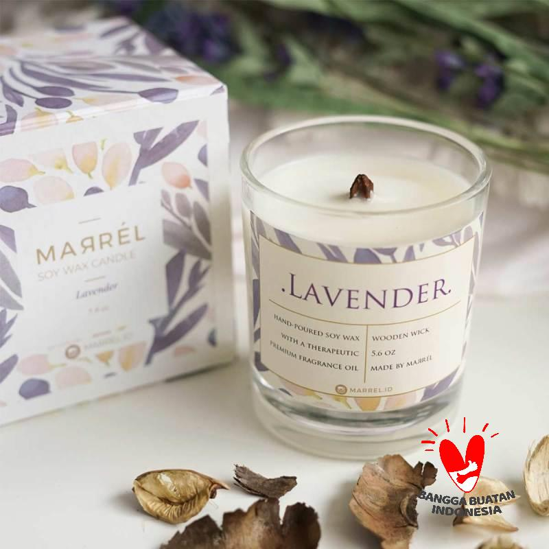 Marrel Lavender Soy Wax Candle Aromatherapy