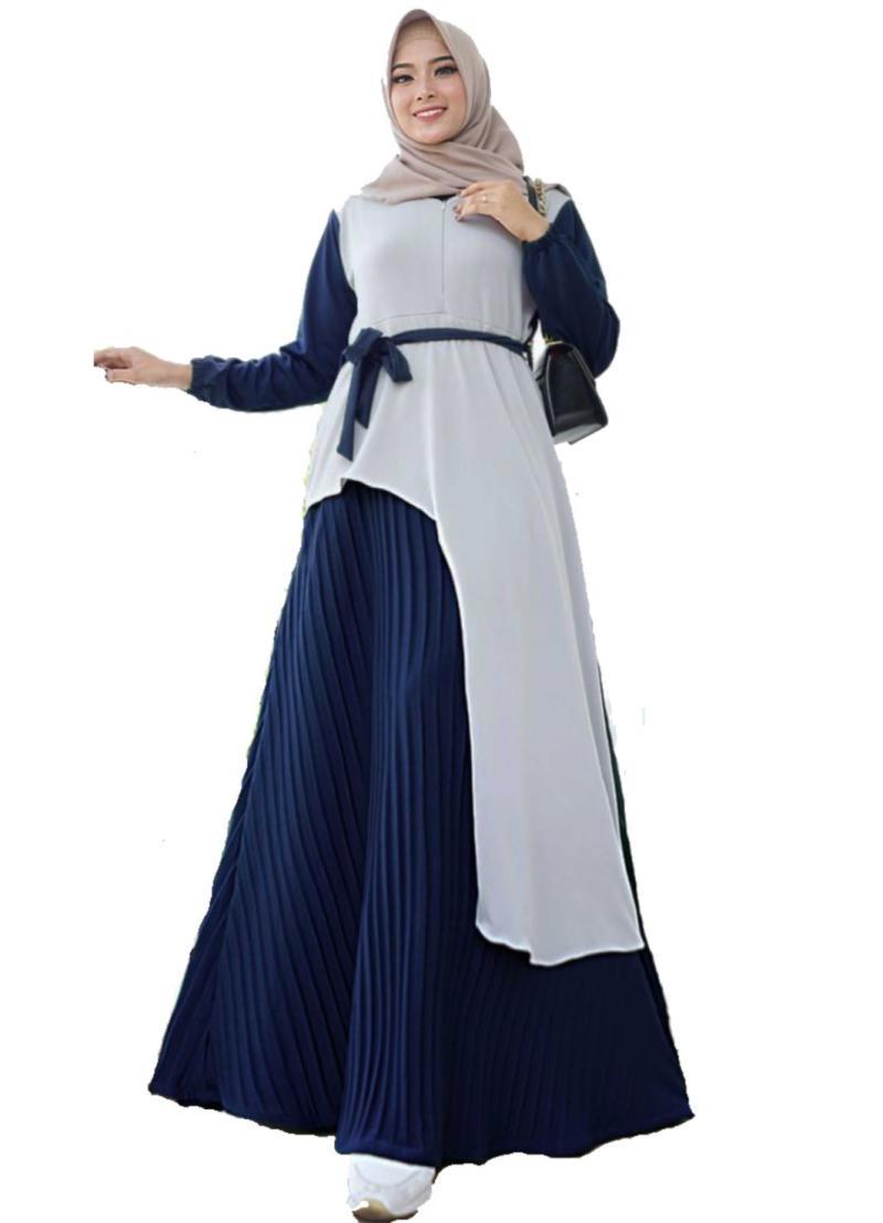 Jual Solo Griya Fashion Motif Plisket Hemma Maxy Gamis Muslim ...