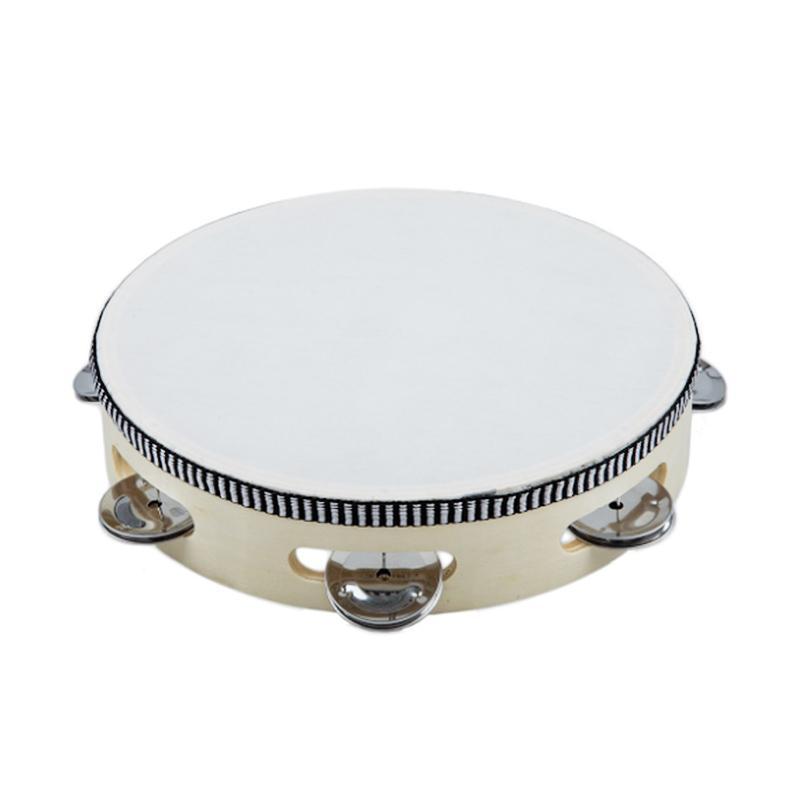 ZEB Tambourine Drum Round Percussion Tamborin Kulit 8 Inch Std
