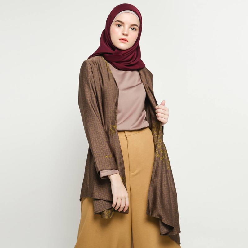 Kami. Yarra Halle Outer Muslim Wanita - Olive