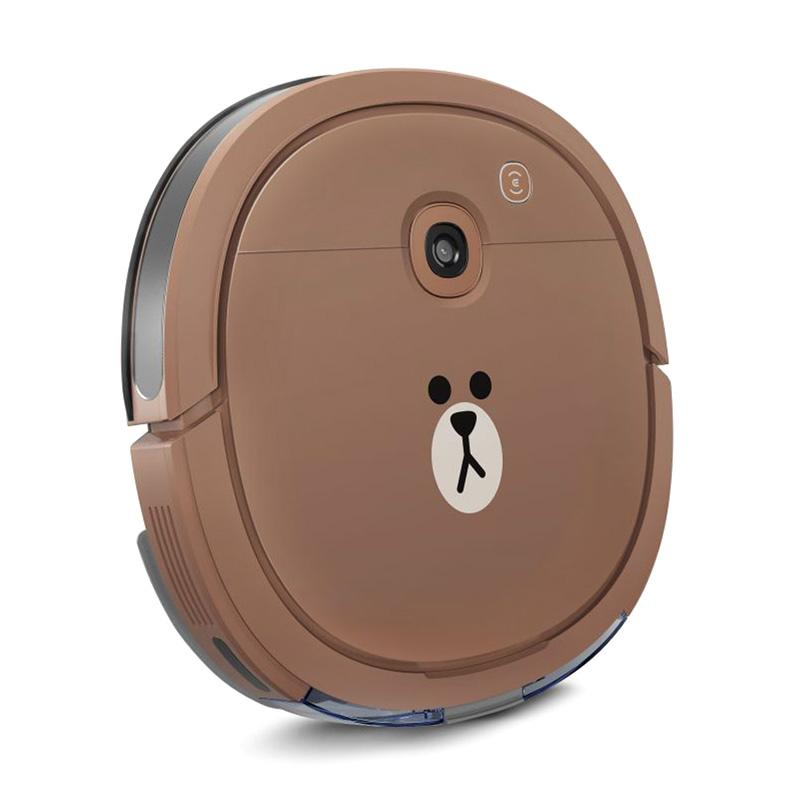 Ecovacs DEEBOT U3 Line Friends Special Brown Edition Slimmest Vacuum Cleaner and Mopping Robot Vacum Sapu Pel Vakum