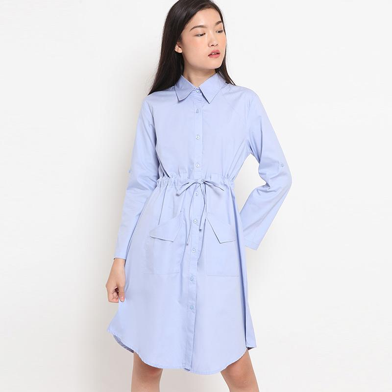 Agatha Basic Dress Wanita Blue
