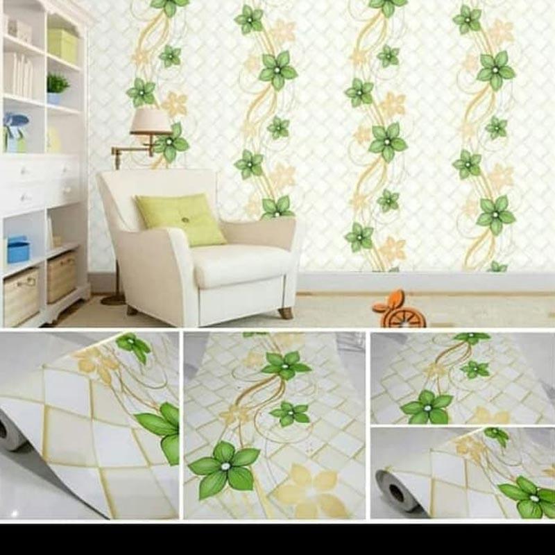 Jual Oem Motif Bunga Hijau Ranting Wallpaper Dinding 10m X 45cm Online November 2020 Blibli Com