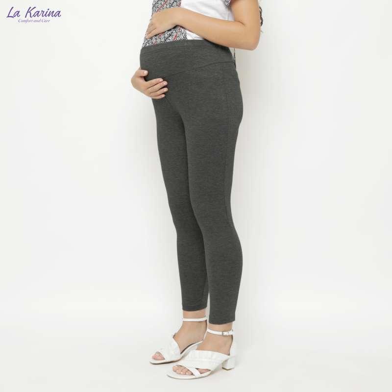 Jual La Karina Celana Legging Hamil Dgn Karet Elastis Adjustable Kathryn K 05009 Warna Grey Online Oktober 2020 Blibli Com
