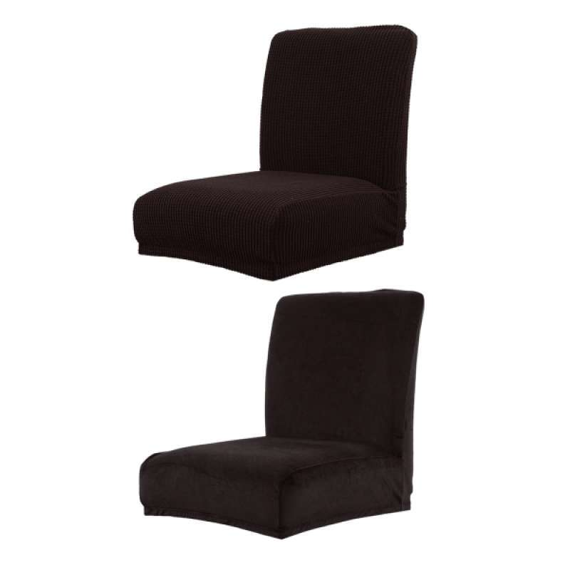 Jual 2x Soft Spandex Stretch Short Dining Room Chair Covers Banquet Chair Seat Protector Slipcover For Home Party Black Online Februari 2021 Blibli