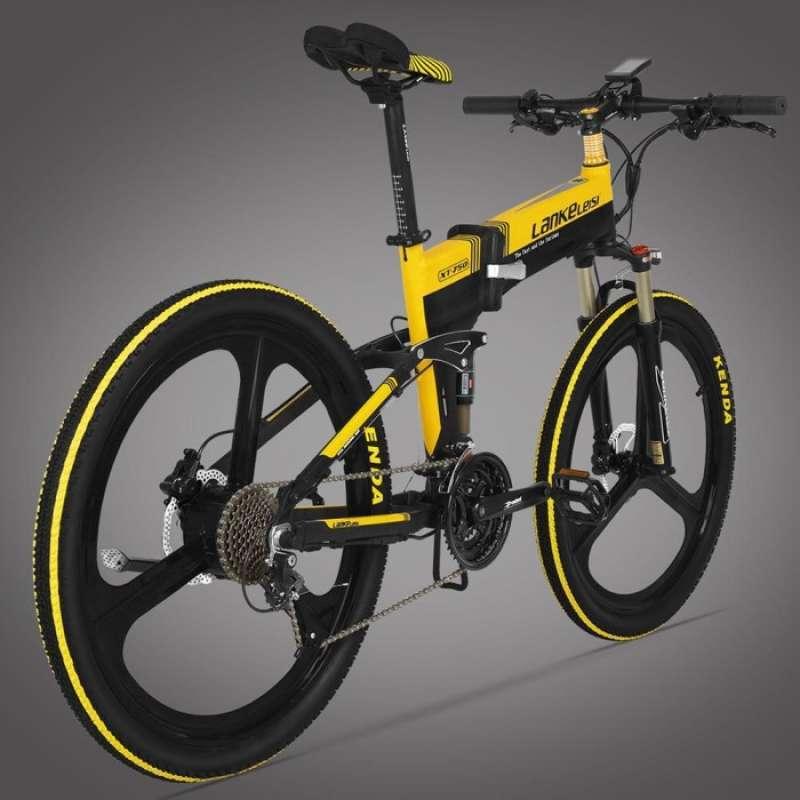 Lankeleisi Sepeda Elektrik Lipat Moped Elite Version XT750 Hitam Kuning