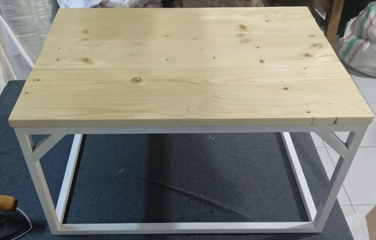 bantalcustom rak meja besi meja lesehan minimalis meja multifungsi sudah termasuk kayu uk 35x65x45 cm full01 eja88u3w